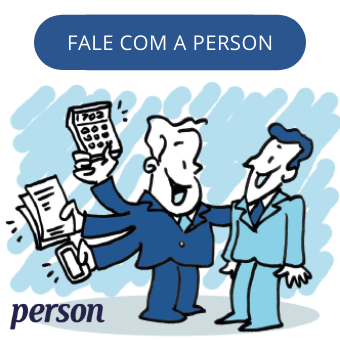 banner fale com a person